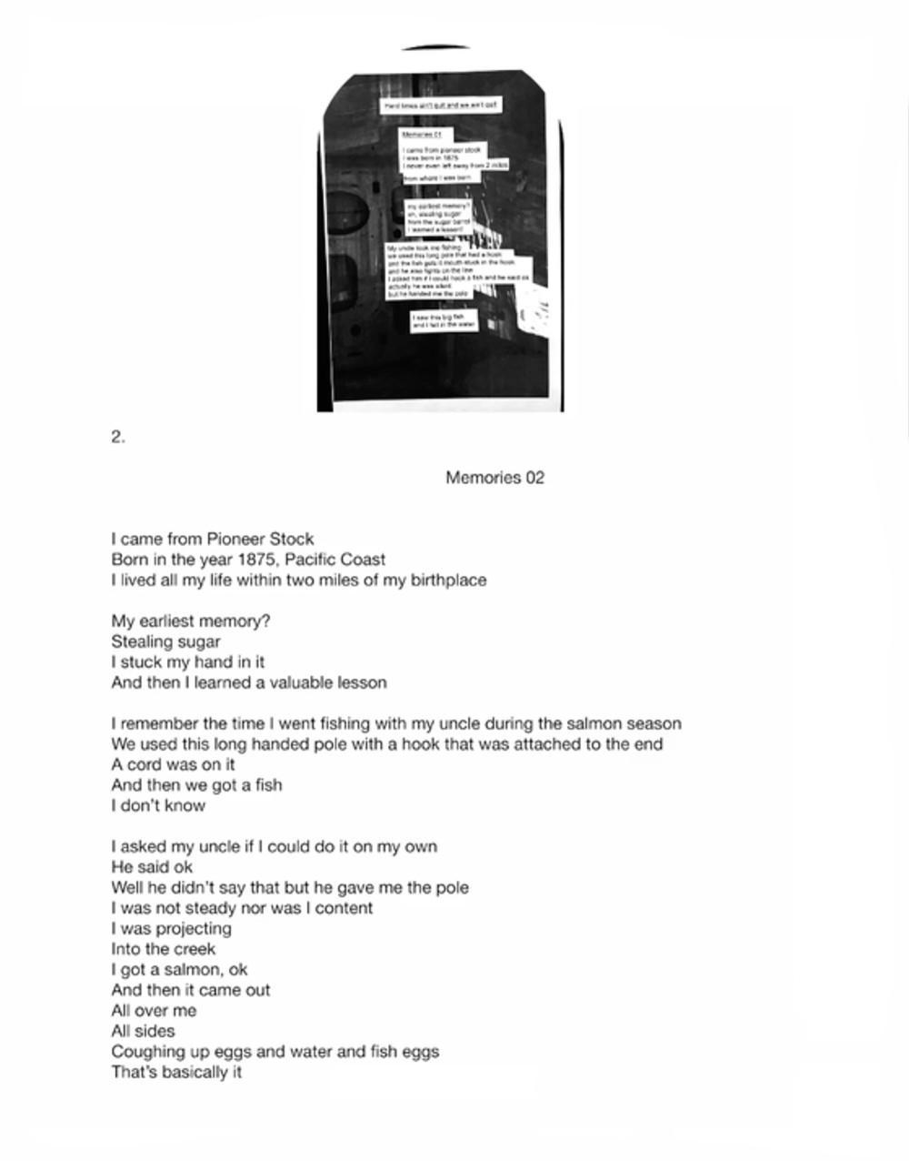 Megan Plunkett Memories 01 - 02 (Still), 2015 Video 7m52s looped, projector, extension cord, plywood