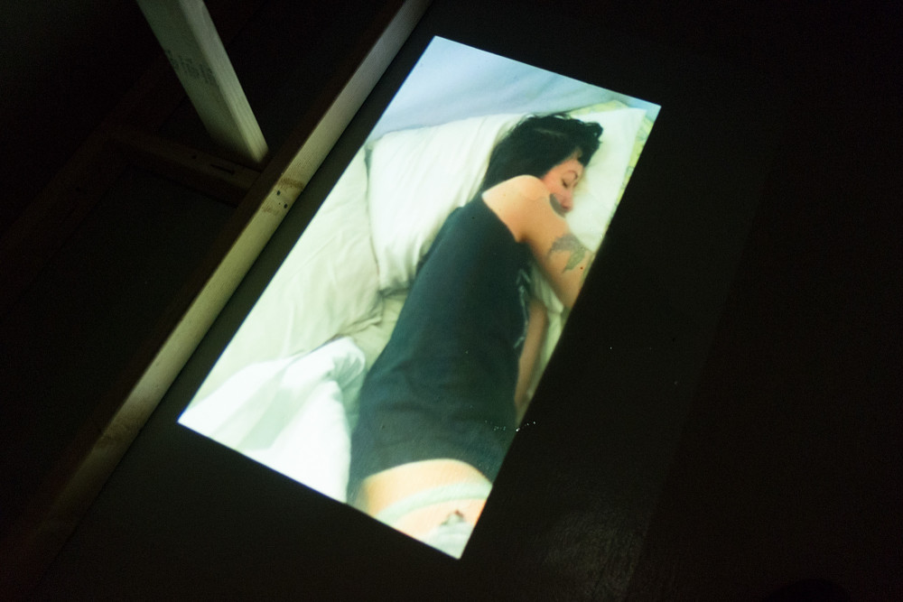 Marissa Jezak Sleeping Beauty, 2016 French lavender, red roses, baby's breath, tulle, hardware, moonlight path shower gel, slideshow